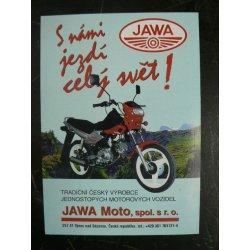 Leaflet - Jawa moto: S námi jezdí celý svět