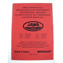Spare parts catalogue and supplement for manual - Jawa 353/08, 354/08 Libenak