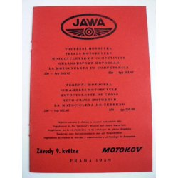 Spare parts catalogue and supplement for manual - Jawa 553, 554, 557, 558 /02 Libenak