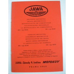 Spare parts catalogue and supplement for manual - Jawa 553, 554, 557, 558 /03,4 Libenak