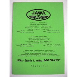 Spare parts catalogue and supplement for manual - Jawa 579, 575 Libenak