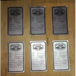 Type plate - Jawa Bizon - various options