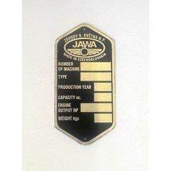 Type plate - Jawa Motocross