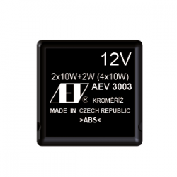 Blinkgeber elektronisch -12V / 2x10W + Warnleuchten