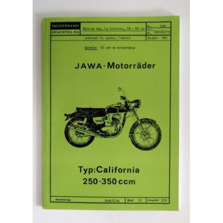 Spare parts catalogue - Jawa Californian for Neckermann