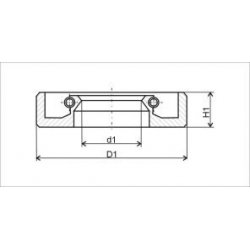 Oil seal 20-35-10 for crankshaft bearing - ČZ B, T, C
