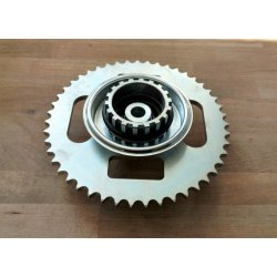 Rear sprocket - ČZ 453, 455, Jawa-ČZ 355, 356 - cutted - 46 teeth - complete