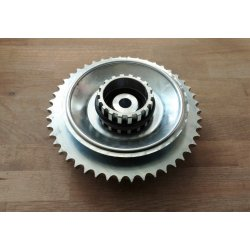 Rear sprocket - Jawa Kyvacka - milled - 46 teeth - complete