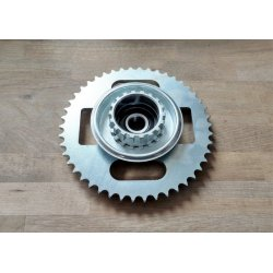 Rear sprocket - ČZ 453, 455, Jawa-ČZ 355, 356 - laser cut - 46 teeth - with carrier