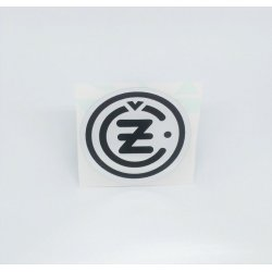 Sticker - ČZ - silver / black