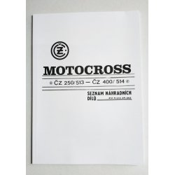 Spare parts catalogue - ČZ 513, 514 Motocross