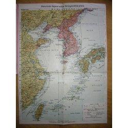 Rusko-japonská válka 1904 - mapa