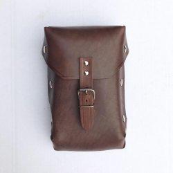 Leather bag - Jawa Enduro - dyed brown leather
